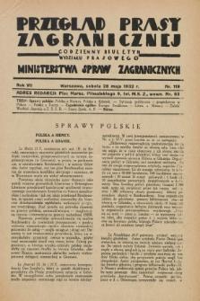 Przegląd Prasy Zagranicznej : codzienny biuletyn Wydziału Prasowego Ministerstwa Spraw Zagranicznych. R.7, nr 119 (28 maja 1932)