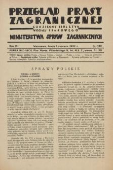 Przegląd Prasy Zagranicznej : codzienny biuletyn Wydziału Prasowego Ministerstwa Spraw Zagranicznych. R.7, nr 122 (1 czerwca 1932)