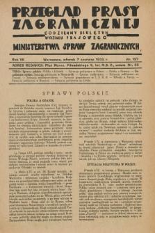Przegląd Prasy Zagranicznej : codzienny biuletyn Wydziału Prasowego Ministerstwa Spraw Zagranicznych. R.7, nr 127 (7 czerwca 1932)