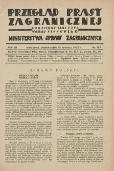 Przegląd Prasy Zagranicznej : codzienny biuletyn Wydziału Prasowego Ministerstwa Spraw Zagranicznych. R.7, nr 132 (13 czerwca 1932)