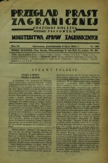 Przegląd Prasy Zagranicznej : codzienny biuletyn Wydziału Prasowego Ministerstwa Spraw Zagranicznych. R.7, nr 149 (4 lipca 1932)