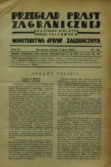 Przegląd Prasy Zagranicznej : codzienny biuletyn Wydziału Prasowego Ministerstwa Spraw Zagranicznych. R.7, nr 150 (5 lipca 1932)