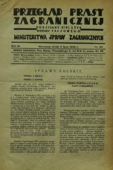 Przegląd Prasy Zagranicznej : codzienny biuletyn Wydziału Prasowego Ministerstwa Spraw Zagranicznych. R.7, nr 151 (6 lipca 1932)