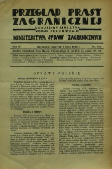 Przegląd Prasy Zagranicznej : codzienny biuletyn Wydziału Prasowego Ministerstwa Spraw Zagranicznych. R.7, nr 152 (7 lipca 1932)