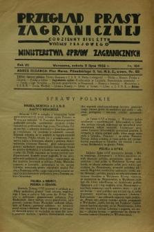 Przegląd Prasy Zagranicznej : codzienny biuletyn Wydziału Prasowego Ministerstwa Spraw Zagranicznych. R.7, nr 154 (9 lipca 1932)