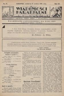 """Wiadomości Parafjalne : dodatek do tygodników """"Niedziela"""" i""""Przewodnika Katolickiego"""". 1936, nr47"""