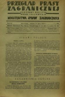 Przegląd Prasy Zagranicznej : codzienny biuletyn Wydziału Prasowego Ministerstwa Spraw Zagranicznych. R.7, nr 156 (12 lipca 1932)