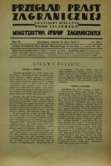 Przegląd Prasy Zagranicznej : codzienny biuletyn Wydziału Prasowego Ministerstwa Spraw Zagranicznych. R.7, nr 162 (19 lipca 1932)