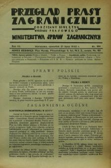 Przegląd Prasy Zagranicznej : codzienny biuletyn Wydziału Prasowego Ministerstwa Spraw Zagranicznych. R.7, nr 164 (21 lipca 1932)
