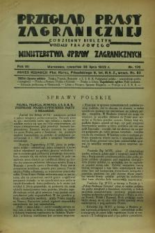 Przegląd Prasy Zagranicznej : codzienny biuletyn Wydziału Prasowego Ministerstwa Spraw Zagranicznych. R.7, nr 170 (28 lipca 1932)