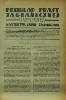 Przegląd Prasy Zagranicznej : codzienny biuletyn Wydziału Prasowego Ministerstwa Spraw Zagranicznych. R.7, nr 180 (9 sierpnia 1932)