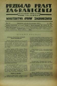 Przegląd Prasy Zagranicznej : codzienny biuletyn Wydziału Prasowego Ministerstwa Spraw Zagranicznych. R.7, nr 185 (16 sierpnia 1932)