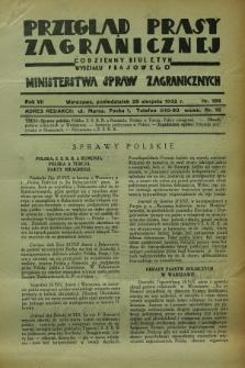 Przegląd Prasy Zagranicznej : codzienny biuletyn Wydziału Prasowego Ministerstwa Spraw Zagranicznych. R.7, nr 196 (29 sierpnia 1932)