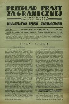 Przegląd Prasy Zagranicznej : codzienny biuletyn Wydziału Prasowego Ministerstwa Spraw Zagranicznych. R.7, nr 198 (31 sierpnia 1932)