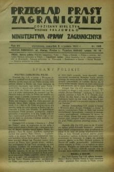 Przegląd Prasy Zagranicznej : codzienny biuletyn Wydziału Prasowego Ministerstwa Spraw Zagranicznych. R.7, nr 205 (8 września 1932)