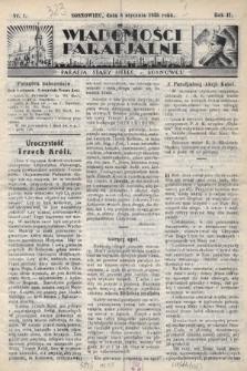 """Wiadomości Parafjalne : dodatek do tygodników """"Niedziela"""" i""""Przewodnika Katolickiego"""". 1935, nr1"""