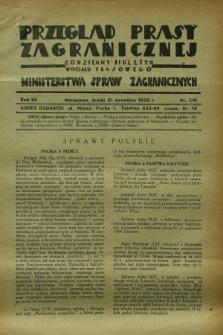 Przegląd Prasy Zagranicznej : codzienny biuletyn Wydziału Prasowego Ministerstwa Spraw Zagranicznych. R.7, nr 216 (21 września 1932)