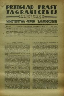 Przegląd Prasy Zagranicznej : codzienny biuletyn Wydziału Prasowego Ministerstwa Spraw Zagranicznych. R.7, nr 220 (26 września 1932)
