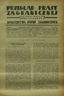 Przegląd Prasy Zagranicznej : codzienny biuletyn Wydziału Prasowego Ministerstwa Spraw Zagranicznych. R.7, nr 222 (28 września 1932)