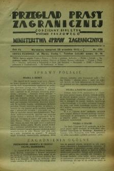 Przegląd Prasy Zagranicznej : codzienny biuletyn Wydziału Prasowego Ministerstwa Spraw Zagranicznych. R.7, nr 223 (29 września 1932)