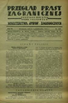 Przegląd Prasy Zagranicznej : codzienny biuletyn Wydziału Prasowego Ministerstwa Spraw Zagranicznych. R.7, nr 225 (1 października 1932) + dod.