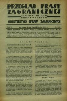 Przegląd Prasy Zagranicznej : codzienny biuletyn Wydziału Prasowego Ministerstwa Spraw Zagranicznych. R.7, nr 228 (5 października 1932)