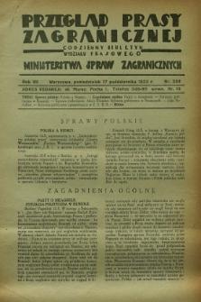 Przegląd Prasy Zagranicznej : codzienny biuletyn Wydziału Prasowego Ministerstwa Spraw Zagranicznych. R.7, nr 238 (17 października 1932)