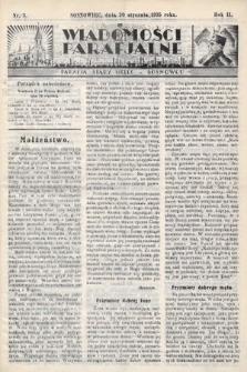 """Wiadomości Parafjalne : dodatek do tygodników """"Niedziela"""" i""""Przewodnika Katolickiego"""". 1935, nr3"""