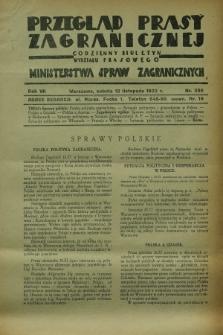 Przegląd Prasy Zagranicznej : codzienny biuletyn Wydziału Prasowego Ministerstwa Spraw Zagranicznych. R.7, nr 259 (12 listopada 1932)