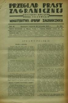 Przegląd Prasy Zagranicznej : codzienny biuletyn Wydziału Prasowego Ministerstwa Spraw Zagranicznych. R.7, nr 269 (24 listopada 1932)