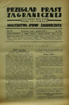 Przegląd Prasy Zagranicznej : codzienny biuletyn Wydziału Prasowego Ministerstwa Spraw Zagranicznych. R.7, nr 280 (7 grudnia 1932)
