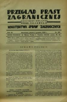 Przegląd Prasy Zagranicznej : codzienny biuletyn Wydziału Prasowego Ministerstwa Spraw Zagranicznych. R.7, nr 281 (9 grudnia 1932)