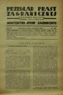 Przegląd Prasy Zagranicznej : codzienny biuletyn Wydziału Prasowego Ministerstwa Spraw Zagranicznych. R.7, nr 284 (13 grudnia 1932) + dod.