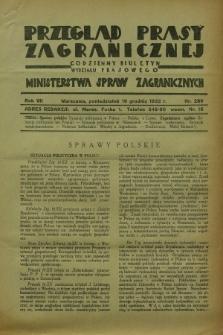 Przegląd Prasy Zagranicznej : codzienny biuletyn Wydziału Prasowego Ministerstwa Spraw Zagranicznych. R.7, nr 289 (19 grudnia 1932)
