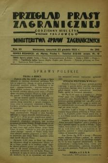 Przegląd Prasy Zagranicznej : codzienny biuletyn Wydziału Prasowego Ministerstwa Spraw Zagranicznych. R.7, nr 292 (22 grudnia 1932)