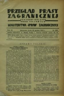 Przegląd Prasy Zagranicznej : codzienny biuletyn Wydziału Prasowego Ministerstwa Spraw Zagranicznych. R.7, nr 295 (28 grudnia 1932)