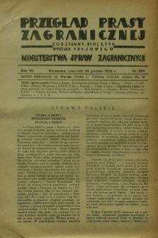Przegląd Prasy Zagranicznej : codzienny biuletyn Wydziału Prasowego Ministerstwa Spraw Zagranicznych. R.7, nr 296 (29 grudnia 1932)