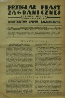 Przegląd Prasy Zagranicznej : codzienny biuletyn Wydziału Prasowego Ministerstwa Spraw Zagranicznych. R.7, nr 297 (30 grudnia 1932)