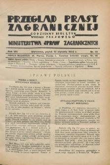 Przegląd Prasy Zagranicznej : codzienny biuletyn Wydziału Prasowego Ministerstwa Spraw Zagranicznych. R.8, nr 10 (13 stycznia 1933)
