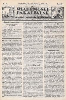 """Wiadomości Parafjalne : dodatek do tygodników """"Niedziela"""" i""""Przewodnika Katolickiego"""". 1935, nr8"""
