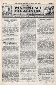 """Wiadomości Parafjalne : dodatek do tygodników """"Niedziela"""" i""""Przewodnika Katolickiego"""". 1935, nr12"""