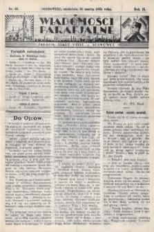 """Wiadomości Parafjalne : dodatek do tygodników """"Niedziela"""" i""""Przewodnika Katolickiego"""". 1935, nr13"""