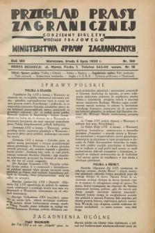 Przegląd Prasy Zagranicznej : codzienny biuletyn Wydziału Prasowego Ministerstwa Spraw Zagranicznych. R.8, nr 150 (5 lipca 1933)