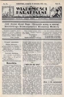 """Wiadomości Parafjalne : dodatek do tygodników """"Niedziela"""" i""""Przewodnika Katolickiego"""". 1935, nr16"""