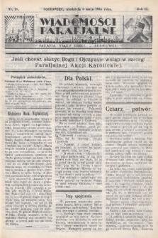 """Wiadomości Parafjalne : dodatek do tygodników """"Niedziela"""" i""""Przewodnika Katolickiego"""". 1935, nr18"""