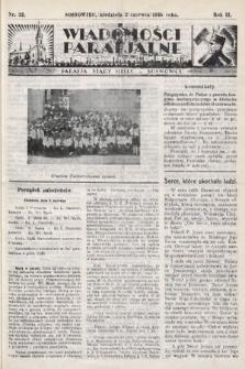"""Wiadomości Parafjalne : dodatek do tygodników """"Niedziela"""" i""""Przewodnika Katolickiego"""". 1935, nr22"""