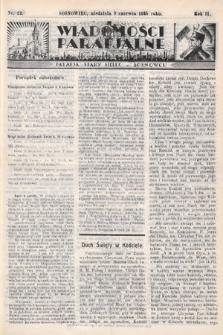 """Wiadomości Parafjalne : dodatek do tygodników """"Niedziela"""" i""""Przewodnika Katolickiego"""". 1935, nr23"""