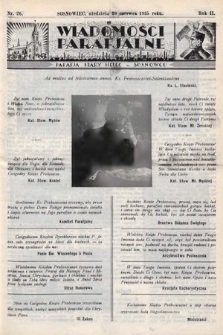 """Wiadomości Parafjalne : dodatek do tygodników """"Niedziela"""" i""""Przewodnika Katolickiego"""". 1935, nr26"""