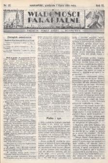 """Wiadomości Parafjalne : dodatek do tygodników """"Niedziela"""" i""""Przewodnika Katolickiego"""". 1935, nr27"""
