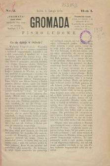 Gromada : pismo ludowe. R.1, nr 2 (1 lutego 1873)